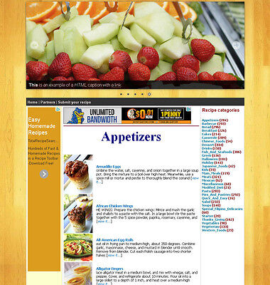 Cooking Recipe Website With 40000 Recipes Included