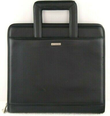 Franklin Covey Monarch Faux Black Leather Planner Briefcase 1.5 Handle 753975
