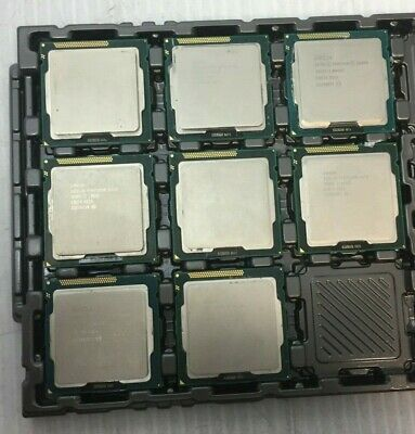 Mixed Lot of 8 Intel Pentium and Celereon G Series Processors