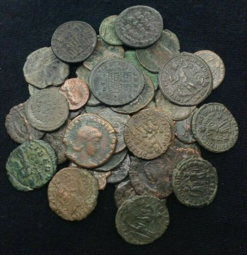 3 RANDOM AUTHENTIC ANCIENT ROMAN EMPIRE BRONZE COINS - 1500+ YEARS OLD