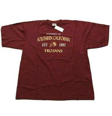 New with Tag Southern California Trojans Older Logo T-Shirt XL Cardinal and Gold