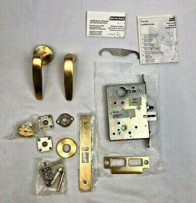 Schlage L9050l 07a 606 Class Mortise Lock Cast Lever Design Satin Brass Cylinder