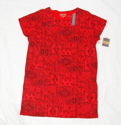 Pendleton women's sleep shirt red patterned size M short sleeve pullover