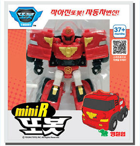 Tobot new mini r robot toy car transformer fire engine red children kids gift - Voiture pompier enfant ...