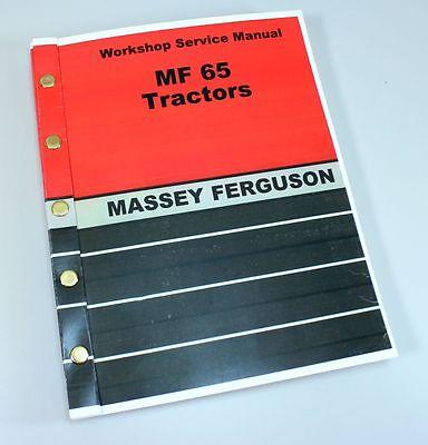 Massey Ferguson Mf 65 Tractor Service Manual Technical Repair Shop Workshop