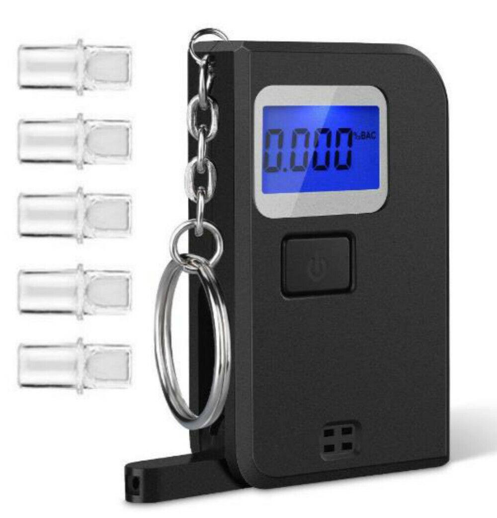 portable professional digital breathalyzer keychain alcohol