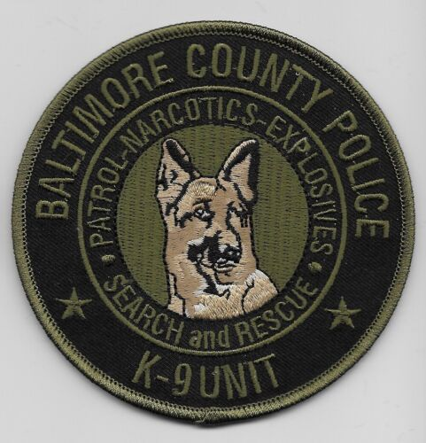 Baltimore Police Narcotics k9 k-9 Subdued State Maryland MD