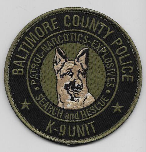 k9 k-9 Narcotics Explosives EOD Subdued Baltimore Police State Maryland MD