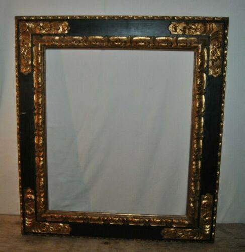 """Vintage Large Art Work Frame Black & Gold 29 1/2"""" by 33"""" Makes A Statement"""