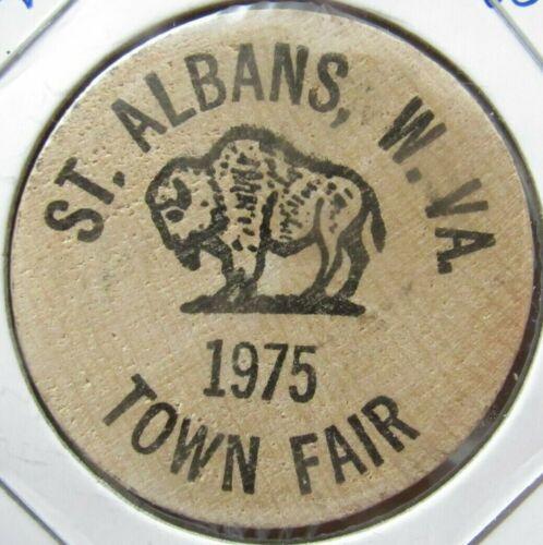 1975 St. Albans, WV Town Fair Wooden Nickel - Token West Virginia