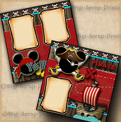 DISNEY PIRATES OF THE CARIBBEAN 2 premade scrapbook pages paper layout DIGISCRAP