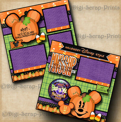 MICKEY'S NOT SO SCARY HALLOWEEN disney premade scrapbook pages layout DIGISCRAP](Not So Scary Halloween Crafts)
