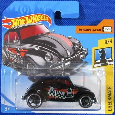 Hot Wheels Volkswagen Beetle BLACK VW Bug Chess Pawn #364 2018 new on short card