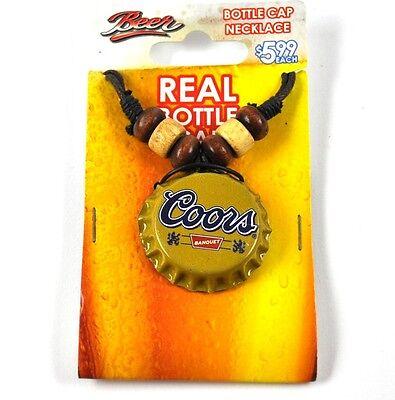 Coors Banquet Beer Bier Kronkorken Halskette USA Bottle Cap Necklace ()