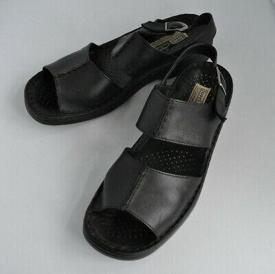 Josef Seibel black leather ladies comfort shoes Sandals size UK 6 EU 39. Buckle
