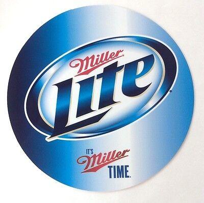 """Miller Lite Beer 7"""" Round Metal Sign - New -"""