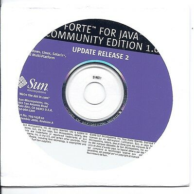 Forte For Java Community Edition 1 0 Update Release 2   Rare Vintage Cd