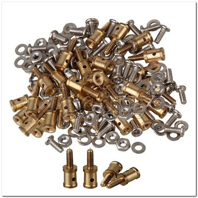 40x Model Airplane Servo Horn Linkage Connector for 1mm Steel Wire Golden Model Airplane Servo