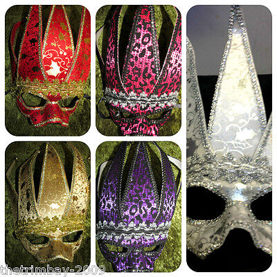 Venetian Masquerade Halloween Eye masks -  5 Colours To Choose From -
