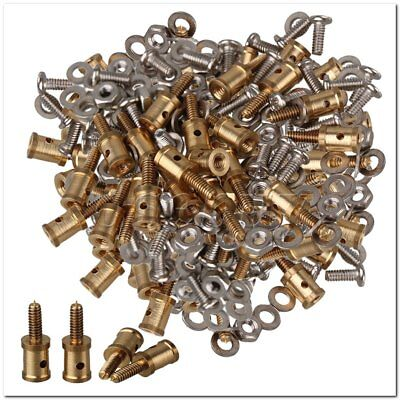 100x Model Airplane Servo Horn Linkage Connector for 1mm Steel Wire Golden Model Airplane Servo