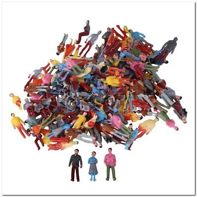 200pcs 1:100 Scale OO Gauge Hand Painted Layout Model Train People Figure for sale  China