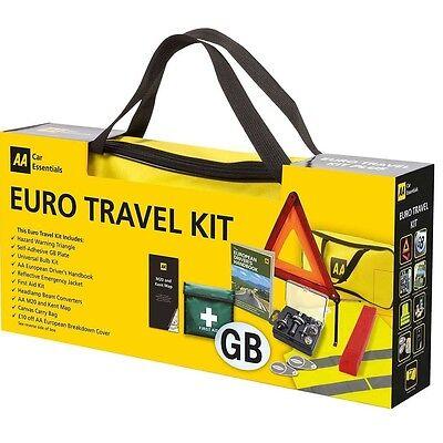 AA EuroTravel Kit Gift Pack Driving in Europe European Motoring Set