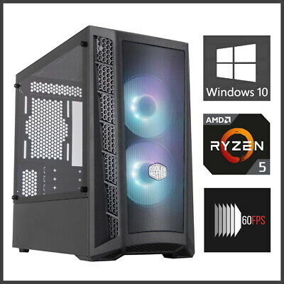 6-Core 3.9GHz Ryzen 5 2600 Gaming PC Computer Desktop 16GB RAM SSD 1TB+ GTX 660