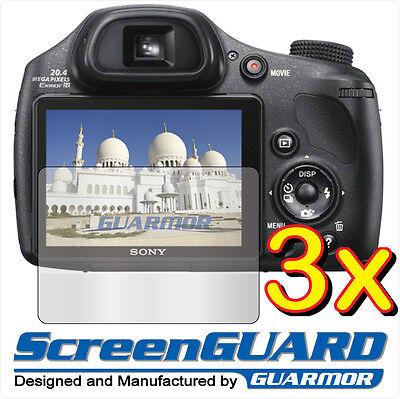3x Clear LCD Screen Protector Guard Shield Film Sony CyberShot DSC-HX300 HX300V