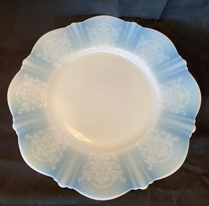 "American Sweetheart Translucent White 6.5"" Bread Salad Dessert Plate - Set of 5"