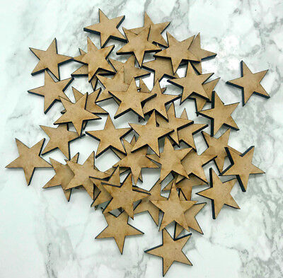 Crafting Supplies MDF Wooden star Laser Cut 1/2 3/4  1 1/4 1 1/2  3/4 2