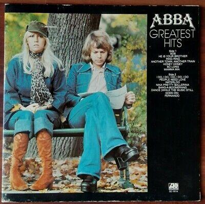 Abba Gate-Fold LP Greatest Hits 1977 Atlantic Records SD 19114, VG+