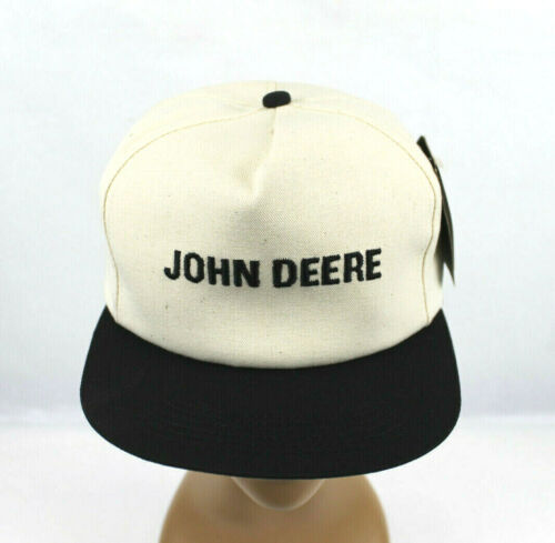 VINTAGE K-PRODUCTS JOHN DEERE EMBROIDERED SNAPBACK TRUCKER HAT - NWT!