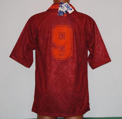 Maglia Roma Totti 1994 1995 Roma-Foggia esordio nuova tirrena ASICS JERSEY L image