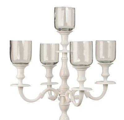 5er Set Glasaufsatz für Kerzenständer Windlicht Aufsatz Kerzenleuchter