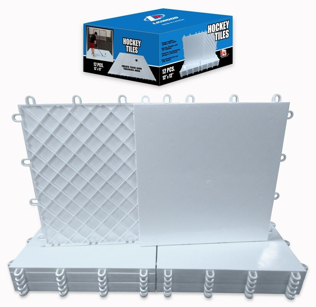 Hockey dryland flooring tiles for shooting and stick handling, box of 12