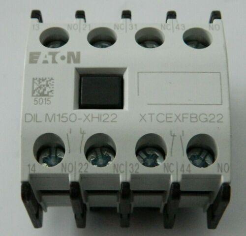 NEW Eaton Moeller Auxiliary Contact Module XTCEXFBG22 / DILM150-XHI22