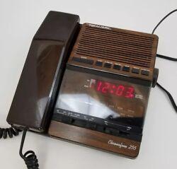 Vtg Realistic Chronofone 255 Telephone Alarm Clock AM / FM Radio 12-1562 Works