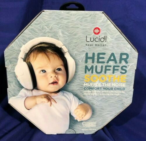 Lucid LA-INFANT-AM-WH, Hear Muffs Soothe, 0-4 years - Brand New!