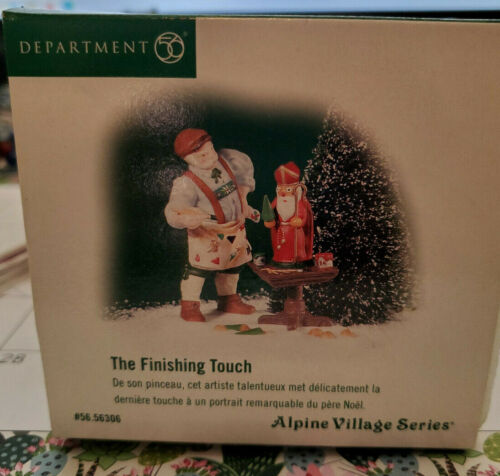 Dept 56  Alpine Village The Finishing Touch   Figurine / Accessory New in Box