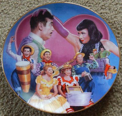 LUCILLE BALL I Love Lucy TENNESSEE ERNIE FORD VISITS Hamilton Plate with COA