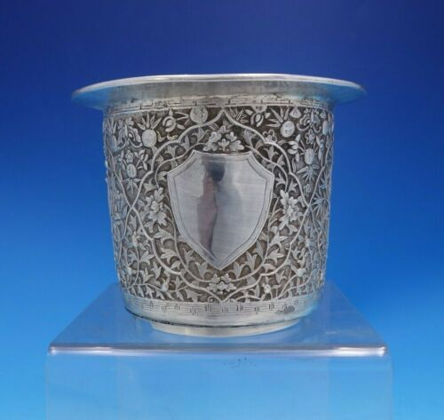 Chinese Sterling Silver Table Wine Cooler with Bird and Flower Motif (#4063)