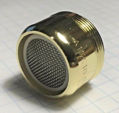 Brass Dual Aerator - Polished Brass Dual Thread Aerator 15/16