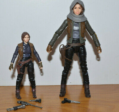 """STAR WARS THE BLACK SERIES JYN ERSO ACTION FIGURE LOT 6"""" & 3.75 HASBRO ROGUE ONE"""