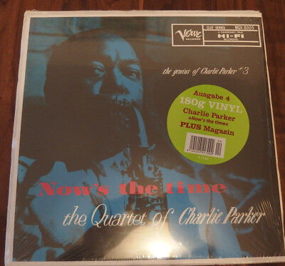 Charlie Parker - Now's The Time RARE Still Sealed Jazz Record GER 2015