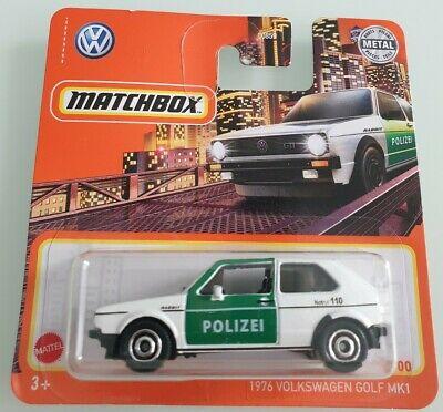 MATCHBOX HOT WHEELS 2020 2021 1976 VW VOLKSWAGEN GOLF MK1 OVP NEW MODEL POLIZEI