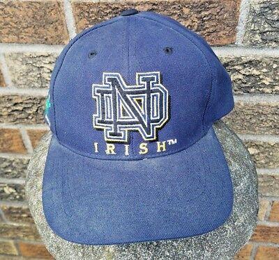 bd5a870e Notre Dame Fighting Irish Hat Graffiti Font Distressed Dirty Snapback Cap