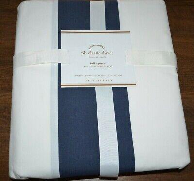 Awning Stripe Bedding - Pottery Barn Classic Wide Awning Stripe Duvet Cover Full Queen Navy Blue White