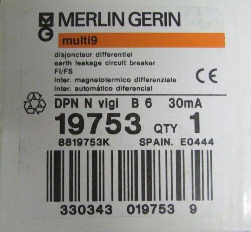 MERLIN GERIN DPN N Vigi B 6 Earth Leakage Circuit Breaker Multi 9 19753