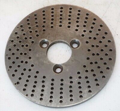Dividing Head Rotary Table Indexing Plates 5 Dia 1.12 Bore 4mm On Center