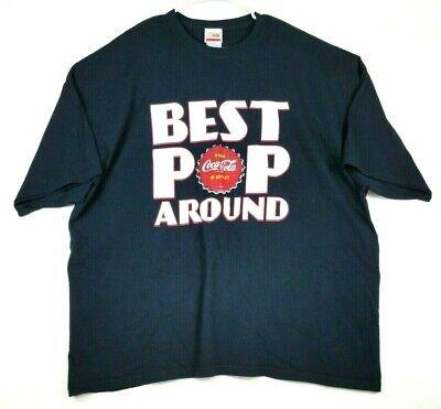 Coca-Cola Best Pop Around Short Sleeve Black T-Shirt Mens Size XXXL 3XL